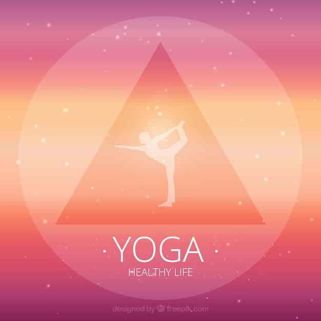 Pink Yoga Background Free Vector