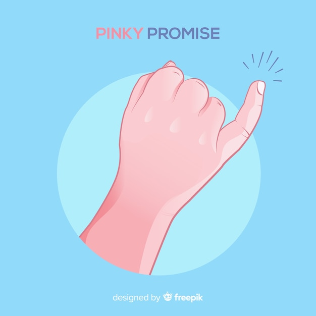 Pinky promise background Free Vector