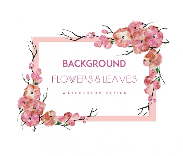 Pinnk Flowers Frame Background Stock Images Page Everypixel