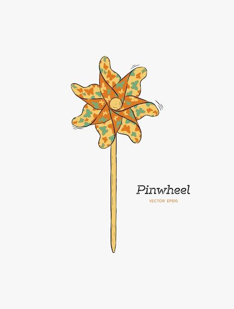 Pinwheel Premium Vector