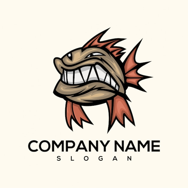 Piranha fish logo Premium Vector