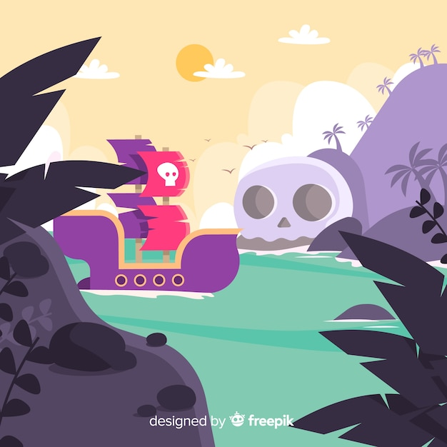 Pirate background Free Vector