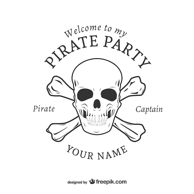 Pirate party logo design vector free download pirate party logo design free vector stopboris