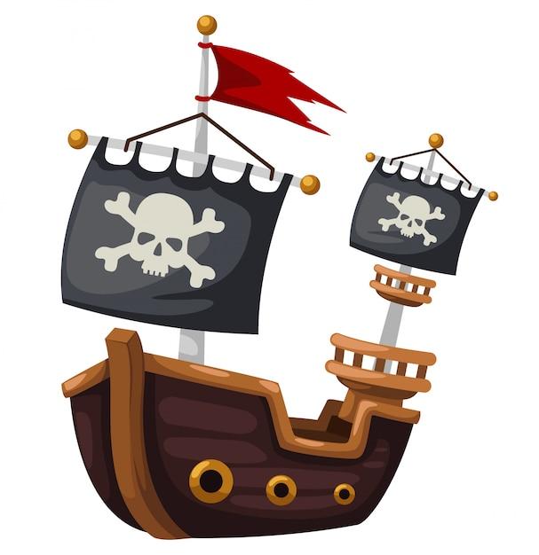 Pirate ship Premium Vector