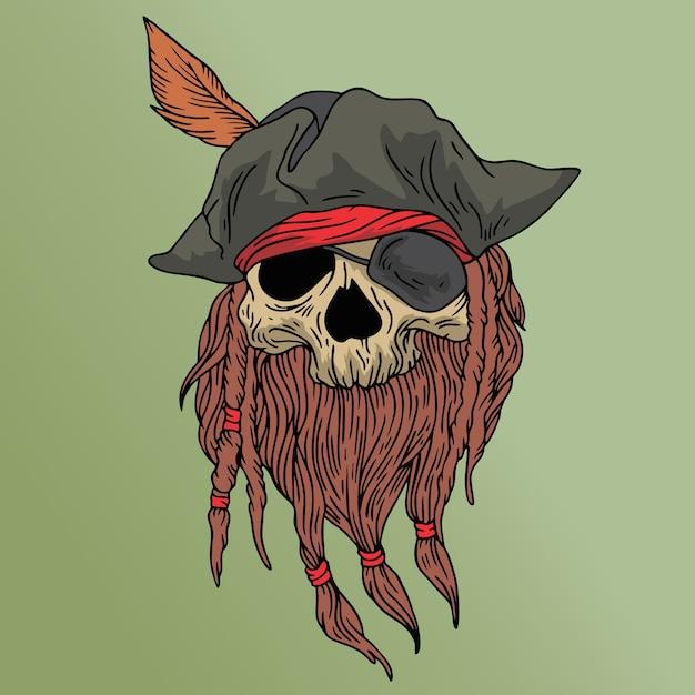Pirate skull Premium Vector