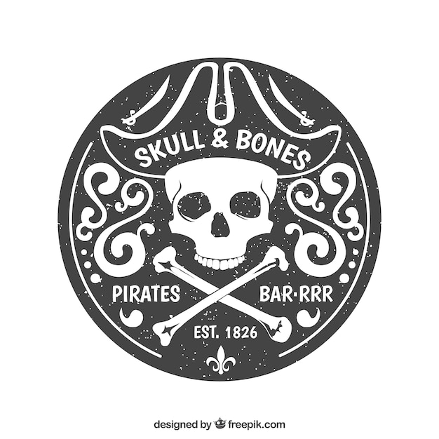 Pirates badge Premium Vector