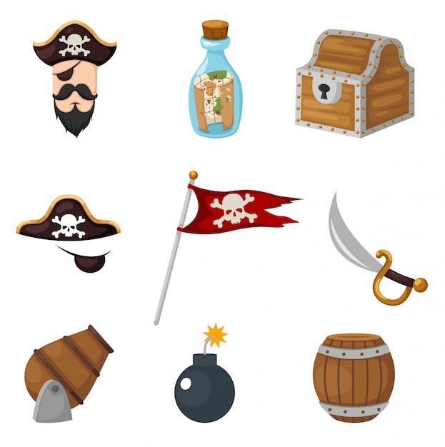 Pirates set Premium Vector