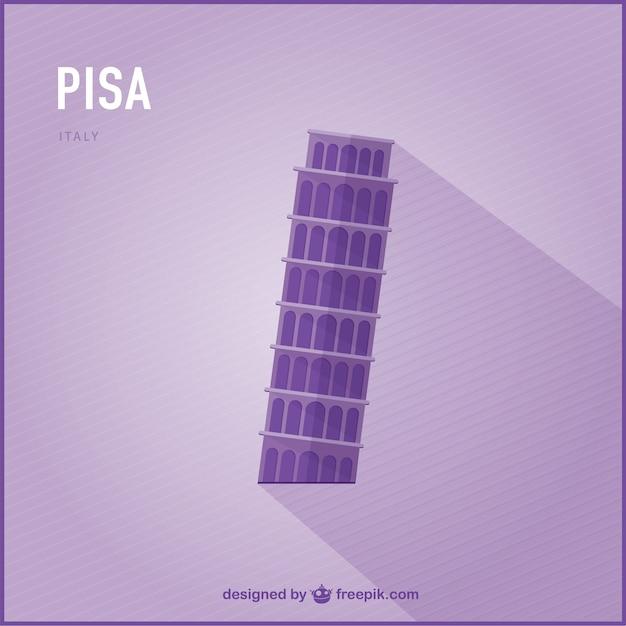 Pisa landmark Free Vector