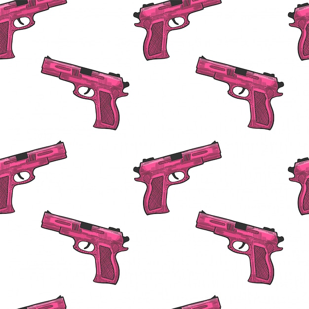 Pistol, firearm for protection Premium Vector