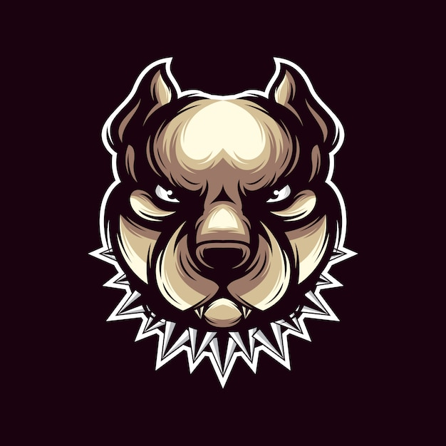 Pit bull logo vector Premium Vector