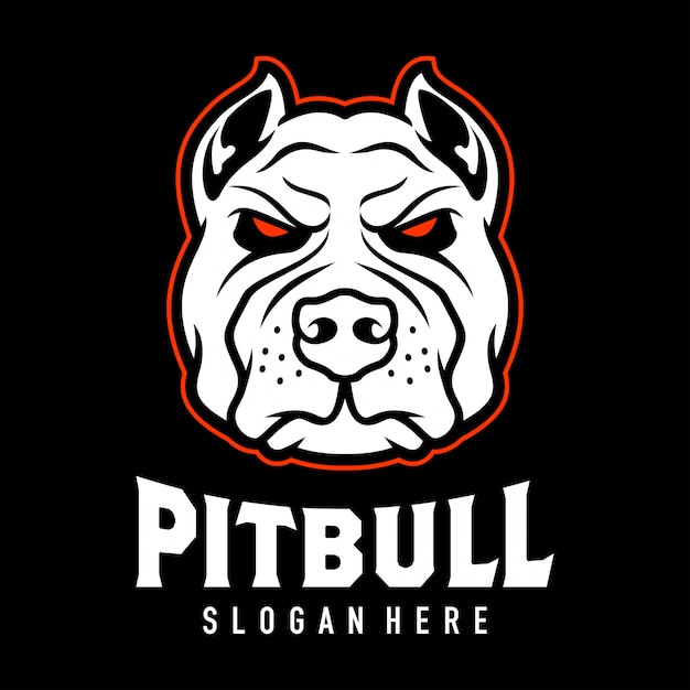 Pitbul head logo design inspiration Premium Vector