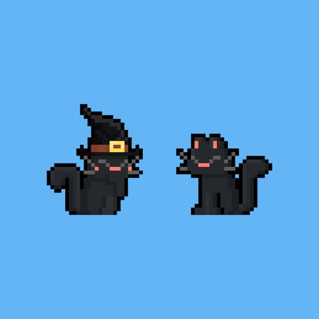 Premium Vector Pixel Art Cartoon Black Cat Character But, morganne is an incredible pixel artist, and i personally don't see why they wouldn't pick another one of her pieces. https www freepik com profile preagreement getstarted 5297538