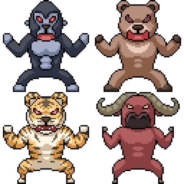 Premium Vector Pixel Art Wild Animal 512 x 512 png 3 кб. https www freepik com profile preagreement getstarted 7907080