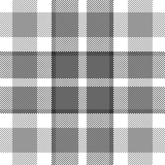 Pixel background  . modern seamless pattern plaid. . tartan scottish textile. beauty color madras ornament. Premium Vector