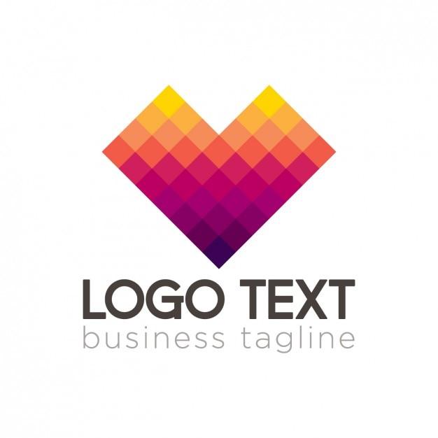 Pixel corporative logo Free Vector