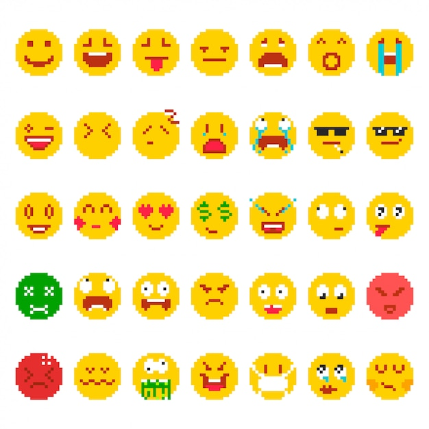 Pixel Emoticon Vectors Photos And Psd Files Free Download
