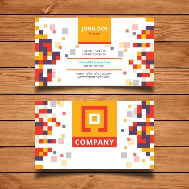 Pixel mosaic business card template vector free download pixel mosaic business card template free vector friedricerecipe Gallery