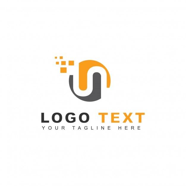 Pixel n letter logo Free Vector