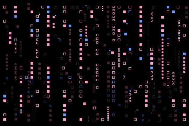 Pixel rain abstract background Free Vector