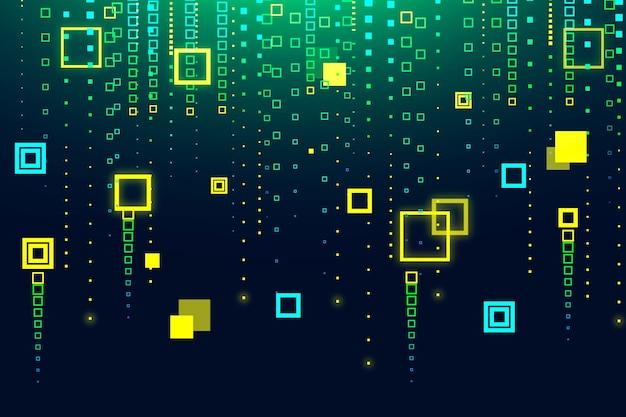 Pixel дождь абстрактный фон Бесплатные векторы