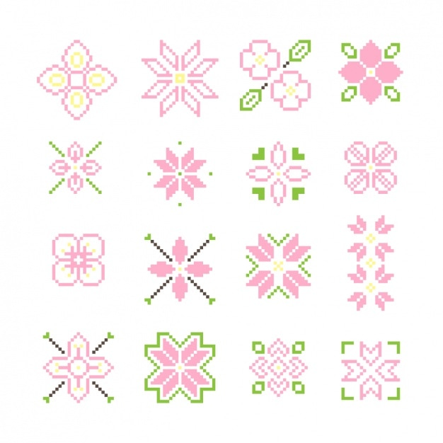 Pixelated Flowers Collection