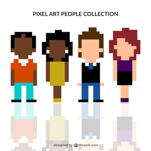 Pixelated people collection