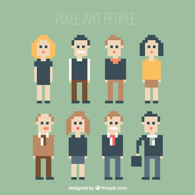 Pixilated people