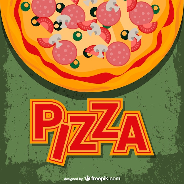 Pizza background Free Vector
