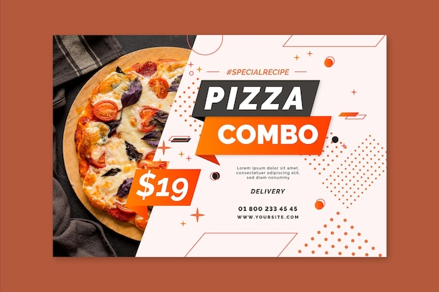 Pizza banner template Free Vector
