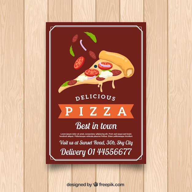 pizza flyer template vector free download. Black Bedroom Furniture Sets. Home Design Ideas