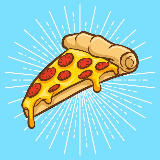 Pizza illustration Premium Vector