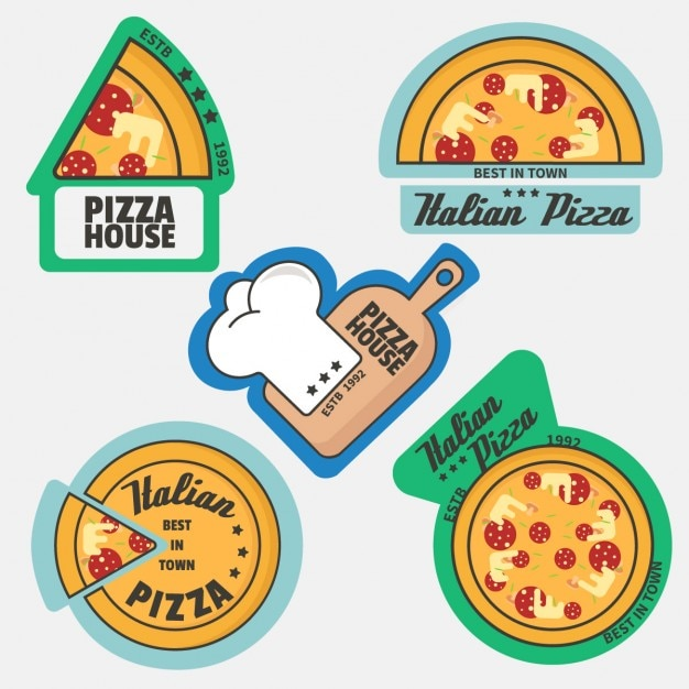 Pizza logo collection Vector | Free Download