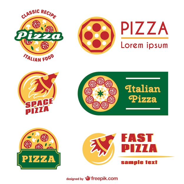 Pizza logo templates Vector | Free Download