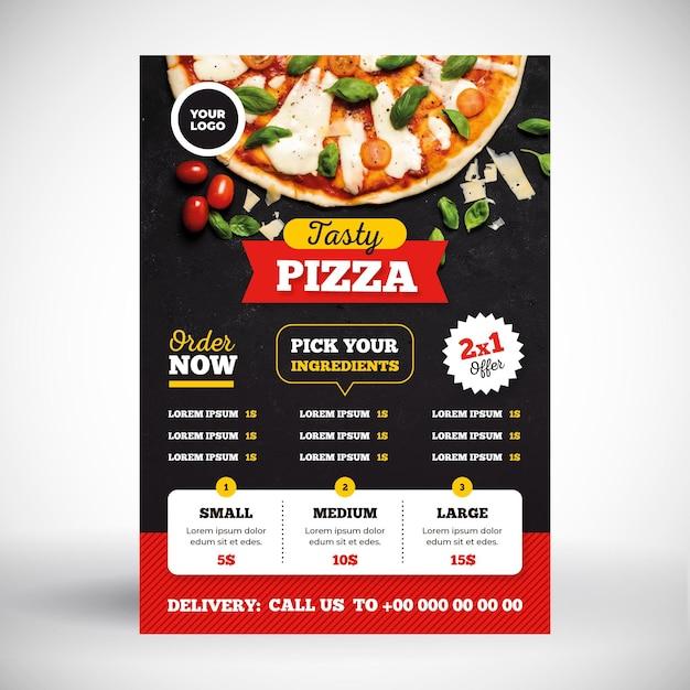 Pizza menu concept Free Vector