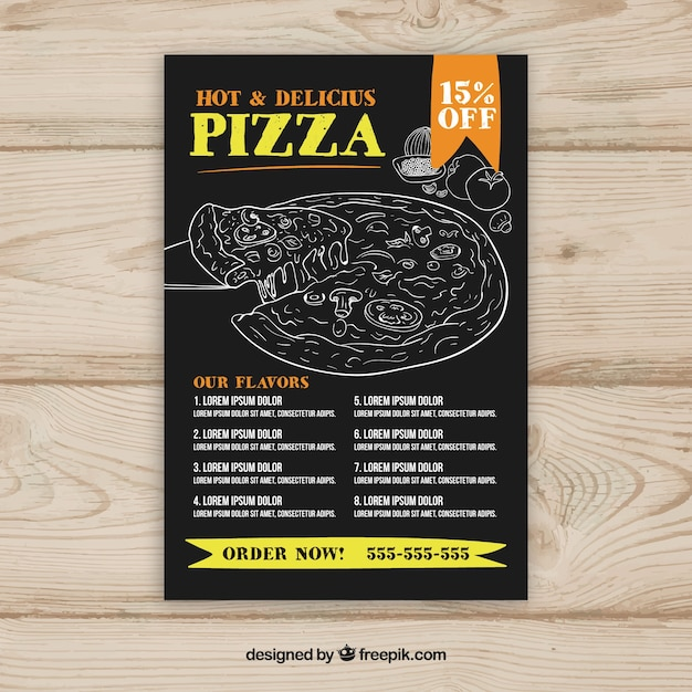Free Pizza Menu Template  ApigramCom