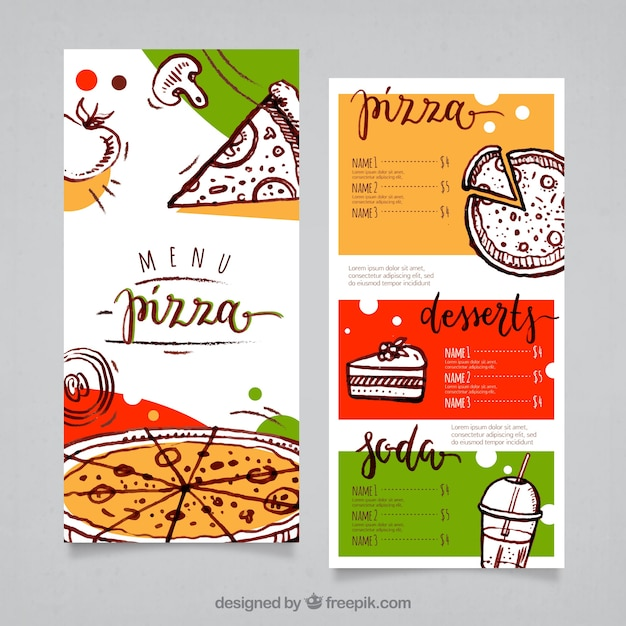 pizza menu template Pizza menu template Vector | Free Download