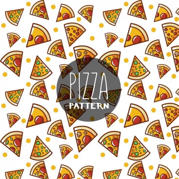 pizza pattern design vector