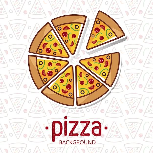 Pizza pattern vector illustration Premium Vector