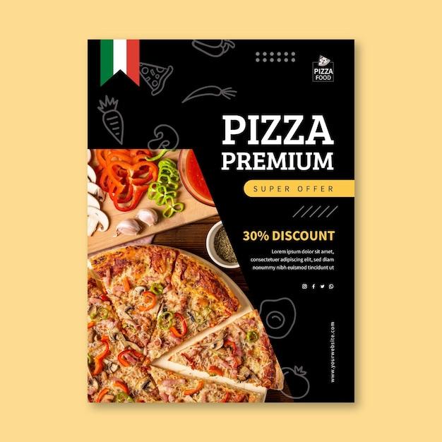 Modello di volantino ristorante pizzeria Vettore gratuito
