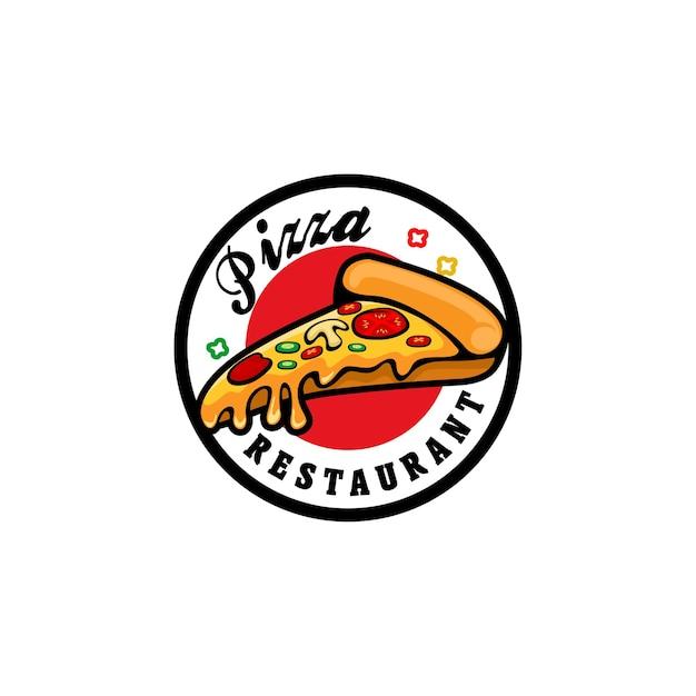 Pizza restaurant logo concept Premium Vector