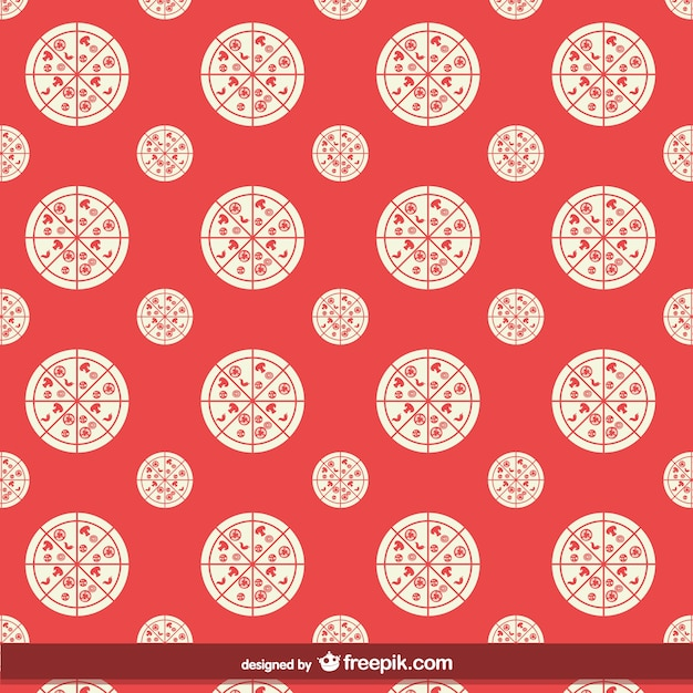 Pizza seamless pattern Vector | Free Download