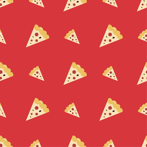 Pizza seamless pattern Premium Vector