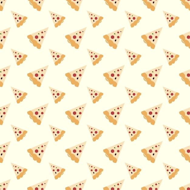 Pizza seamless pattern Premium Vector