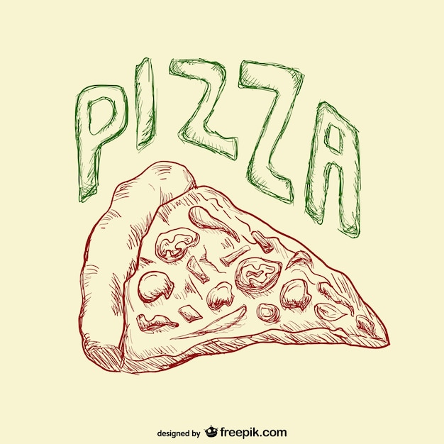 Pizza slice drawing vector free download for Sketch online free