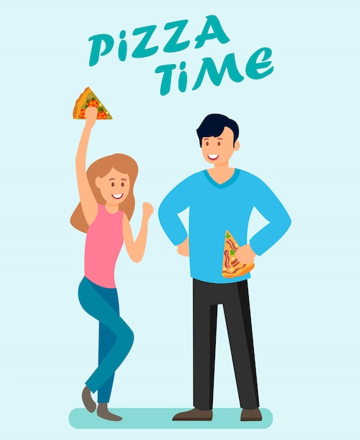Pizza time advertising brochure vector template Premium Vector