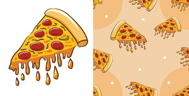 Pizza vector graphic design Premium Vector