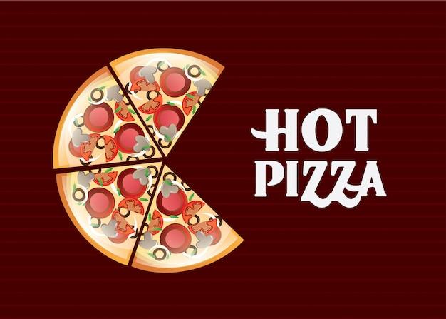Pizza Premium Vector