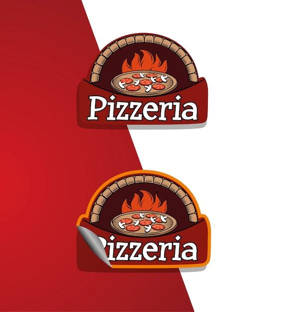 피자 집 로고 프리미엄 벡터
