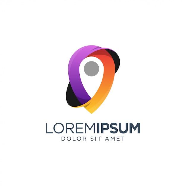 Place logo design Premium Vector