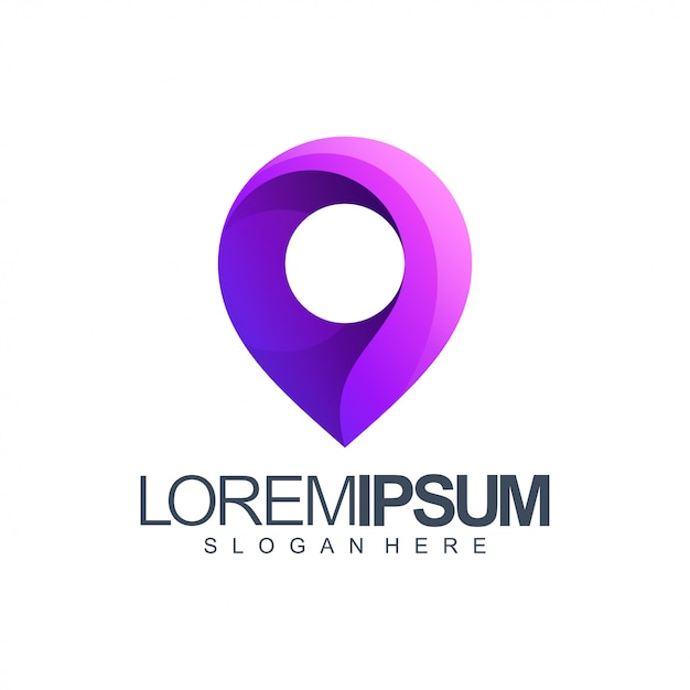 Place logo illustration Premium Vector
